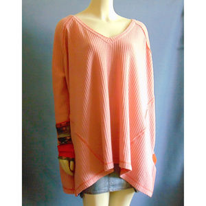 We The Free Thermal Sleeve Cuff Oversized Top L